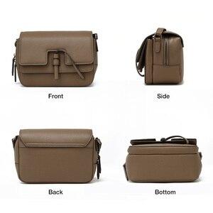 Image 2 - FOXER marka damska torba nowa moda Split skóra Crossbody torba torba dla kobiet kobiet torby na ramię