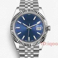 41 Mm automatique marque de luxe mécanique foncé RHODIUM jubilé BRACELET hommes hommes Designer montres sport montres homme montre