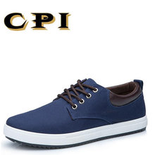 KPI New Men's Canvas casual skor Canvas Mode Men Casual Shoes med Plattform andas båtskor mjuka bekväma CC-22