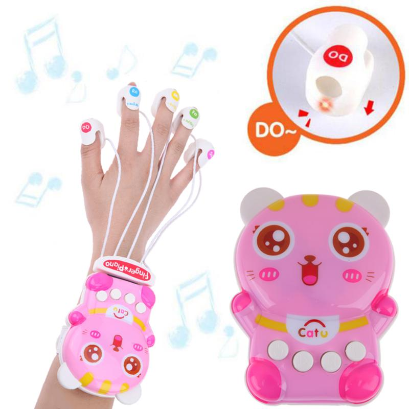 Electronic Infant Playing Type Finger Piano Toy Baby Girls Early Educational Finger Piano Animal LED Flashing Music Sound Toy