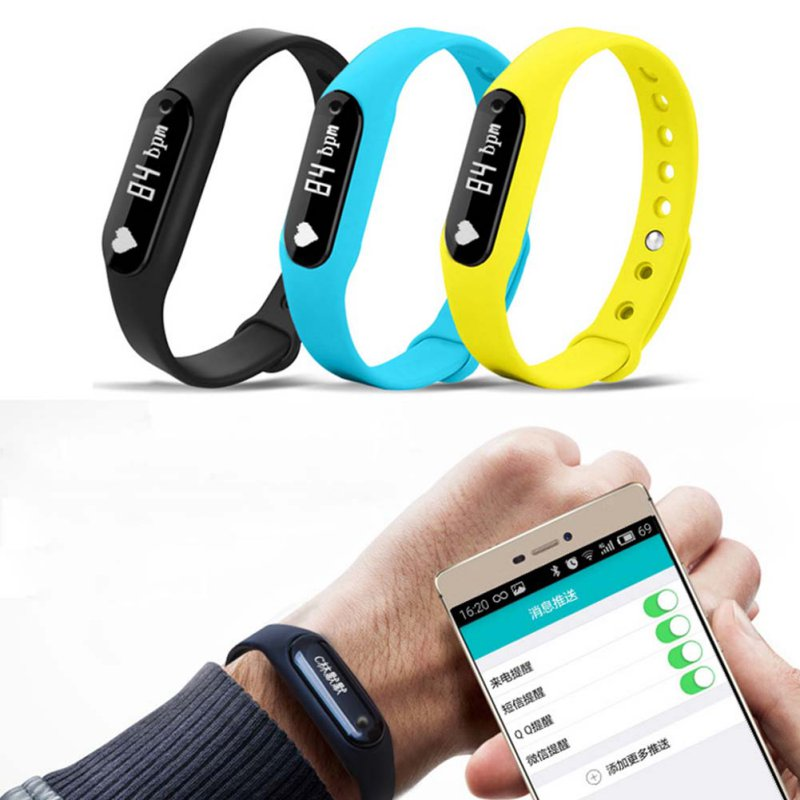 New Smart Wristband C6 Heart Rate Monitor Bracelet Bluetooth 4 0 Pulsometer Passometer Fitness Tracker For