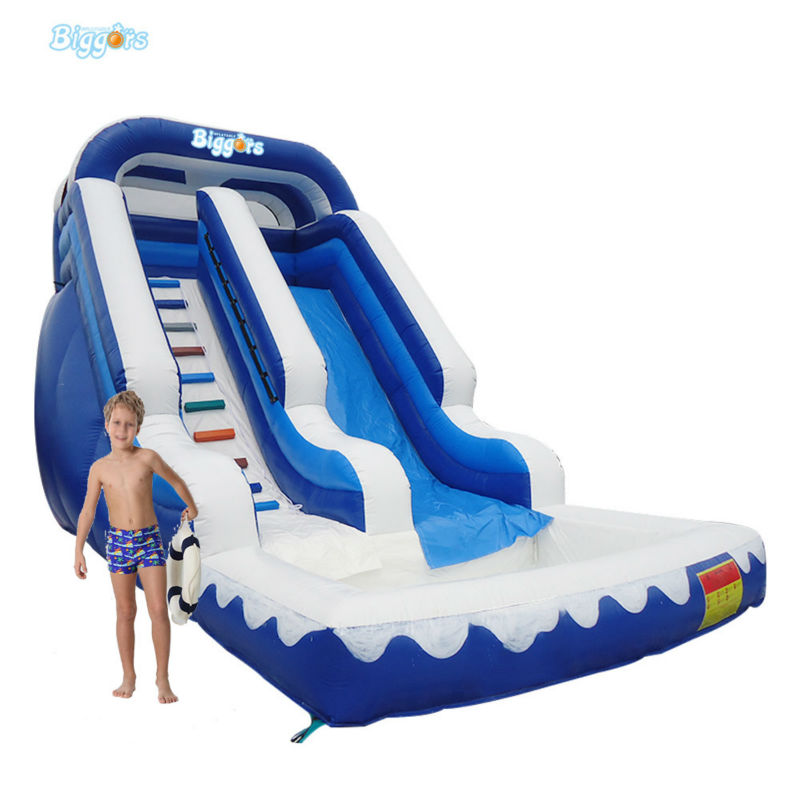 CE Certificated Inflatable Slide With Pool Inflatable Slide With Safety Net For Sale