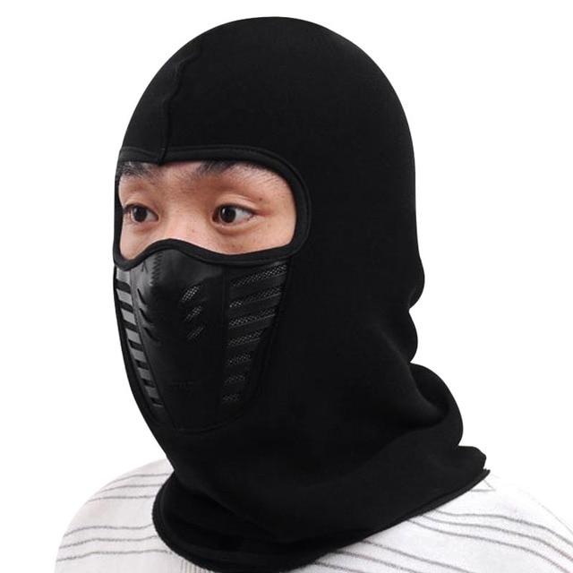 Mens Winter Hats Balaclava Neck Warmer Unisex Motorcycle Beanies Cap Face  Mask Hat Beanie Women Warm 8bdefb43c05