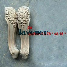 Z4-35x8 см деревянная резная аппликация плотник Наклейка дерево Рабочий плотник ноги украшение цветок
