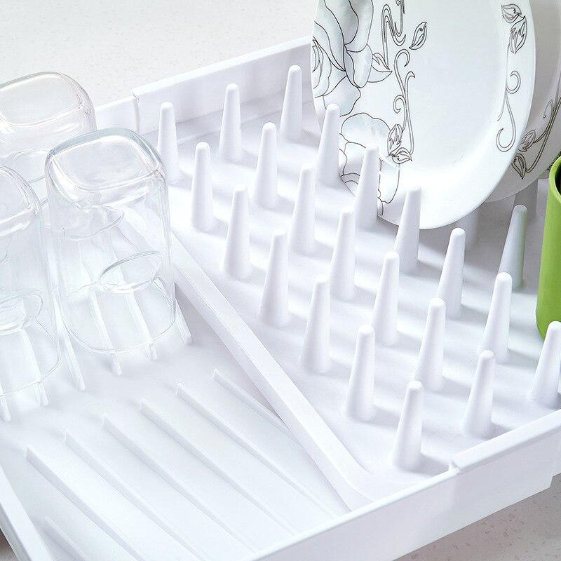Kitchen Bowl Dishes Sink Rain Storage Rack Plastic Water Filter Stretch Cup Shelf Drain Rack Kitchen Supplies in Storage Holders Racks from Home Garden