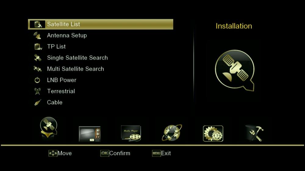 satellite receivers Golden-1