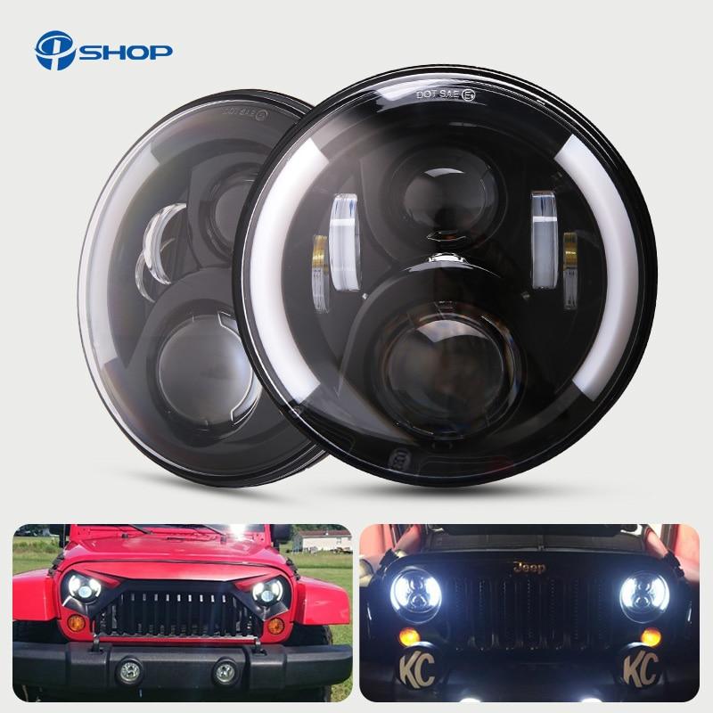 1 Pair 7'' Running Lights 50W Hi Lo H13 Led Headlight Kits Car Led H4 Auto Led Headlight for LADA Nissan Safari/Patrol 1 pair 7 inch rectangular led headlight