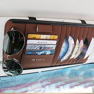 Image 3 - CD/DVD Wallet voor Auto Interieur Opslag met Card Zonnebril Houder voor BMW Zonneklep DVD Tas voor Toyota auto Origizer Vehicel