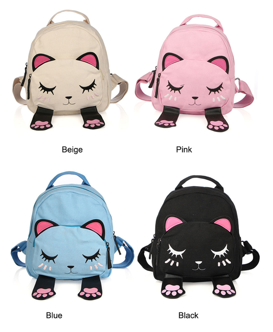 Funny Cat Gift Leather Backpack