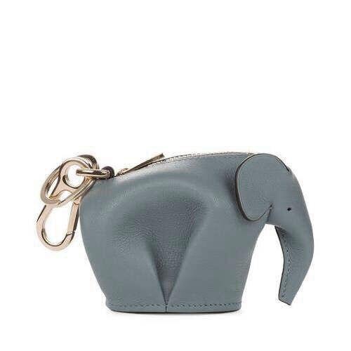 Dessin Porte Monnaie en cuir véritable à la main éléphant porte monnaie personnalisé