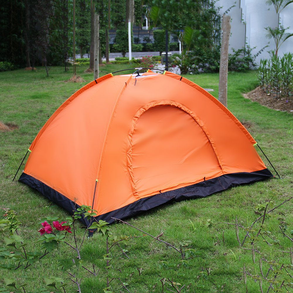 ФОТО Outdoor 2 Person Camping Hiking Tent Dome Waterproof Instant Backpacking Shelter 7mm Tourist Tents 3 Color for 2-3 Person NEW