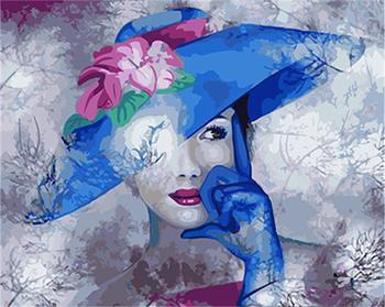 DRAWJOY Framed DIY Painting By Numbers Of Beauty Lady Painting&Calligrapy Hand Painted on Canvas Diy Oil Painting Wall Art