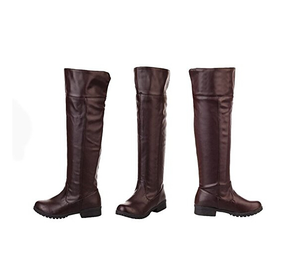 Attack on Titan Cosplay Boots Shingeki No Kyojin Cosplay Shoes Boots Brown Color With EU Size