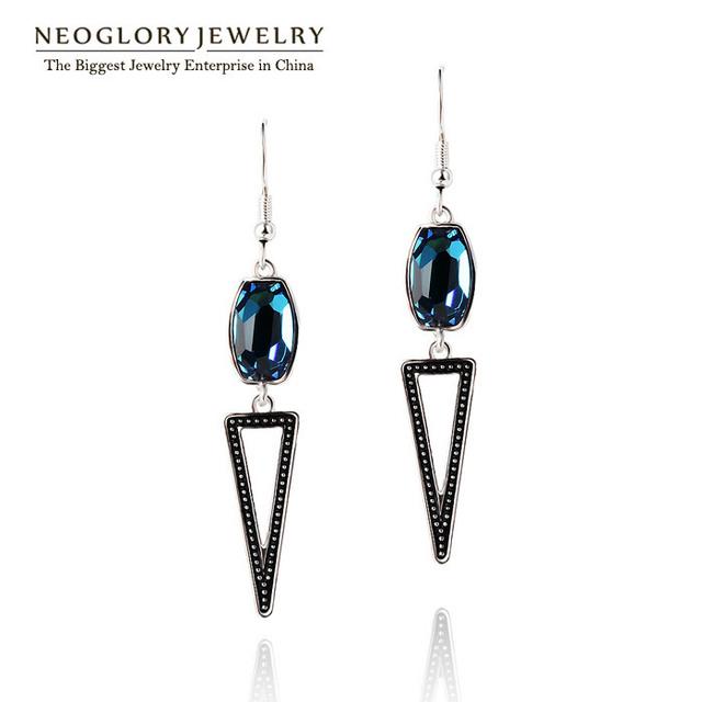 Neoglory áustria cristal special long gota oscila brincos moda jóias para as mulheres 2017 novos presentes qc3