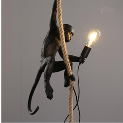 Hars Zwart Wit Aap Hanglamp Voor Woonkamer Lampen Art Parlor Studeerkamer Led Verlichting lustre Met E27 Dimmen led Lamp