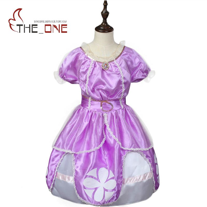 Girls Princess Party Dresses Children Sofia Cosplay Costume Kids Cute Lace Layered Tutu Dress Ballgown Clothing for Girl princess girls summer dresses elegant girl lace tutu vestidos with waistcoat kids party costume casual children dress age 2 12y
