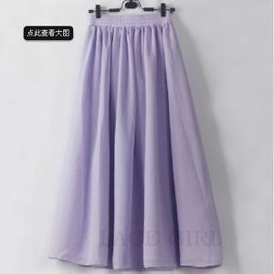 Chiffon Skirts Ladies' Summer The in And Aa Star Solid with Bust 1158 New-Products Europe