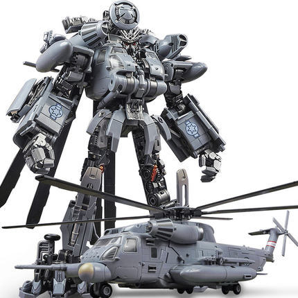 WeiJiang Wei Jiang M05 Brawl Transformation Toy Oversize KO SS08 Hide Shadow Blackout Vertigo Alloy Helicopter Action Figure