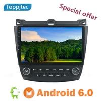 10.1 Car Radio DVD Player GPS Navigation Stereo for 2003 2007 Honda Accord 7 Dual AC Support Bluetooth USB MAP