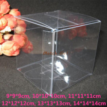 20pcs lot 9 9 9cm 10 10 10cm Big Size Clear Square Wedding Favor Gift Box
