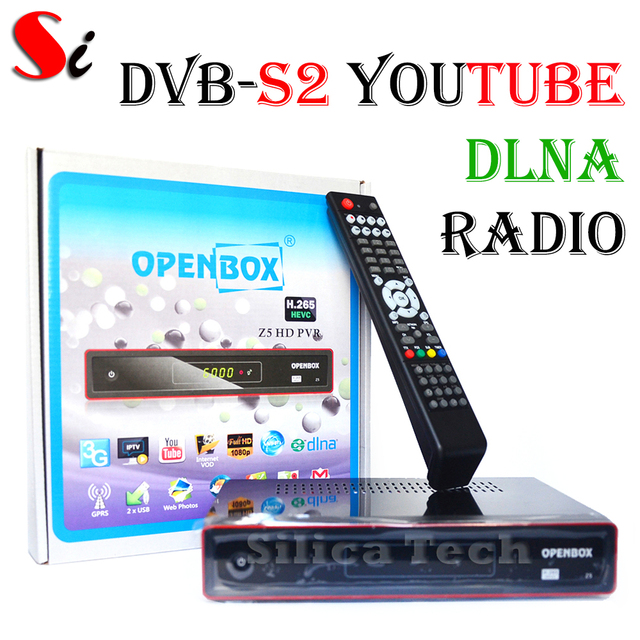 US $59 0 |Openbox Z5 1080p Full HD H 265 HEVC satellite receiver, IPTV,  youtube, online video, DLNA-in Satellite TV Receiver from Consumer  Electronics