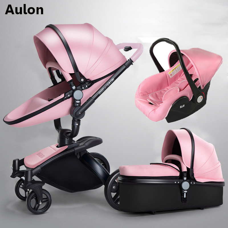 Aulon baby stroller 3 in 1 free shipping! Branded baby carriage, eco-leather baby carriage, euro car seat, basket, cradle for neAulon baby stroller 3 in 1 free shipping! Branded baby carriage, eco-leather baby carriage, euro car seat, basket, cradle for ne