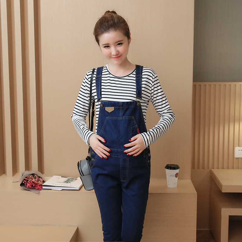 Velvet Winter Maternity Denim Overalls Rompers Pregnant Women Adjustable Pants for Pregnant Women New Pregnancy Loose Pants C374 woman fashion slim solid knee distrressed maternity wear jeans premama pregnancy prop belly adjustable pants for women c73