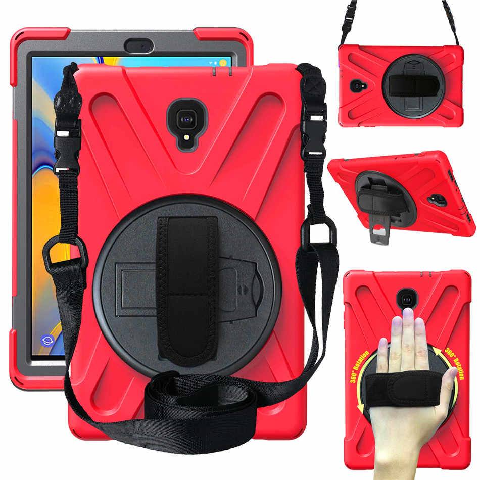"Case for Samsung Galaxy Tab A A2 10.5"" T590 T595 T597 tablet Kids skin Safe Shockproof Armor hard cover+ Hand Strap & Neck Strap"