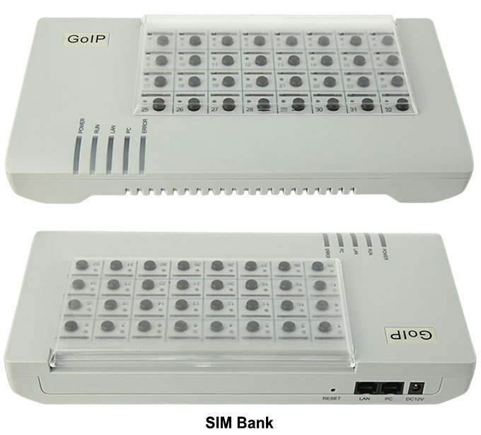 SIM Bank SMB32 server Remote SIM cards manage emulator support DBL goip Auto IMEI Changeable Auto