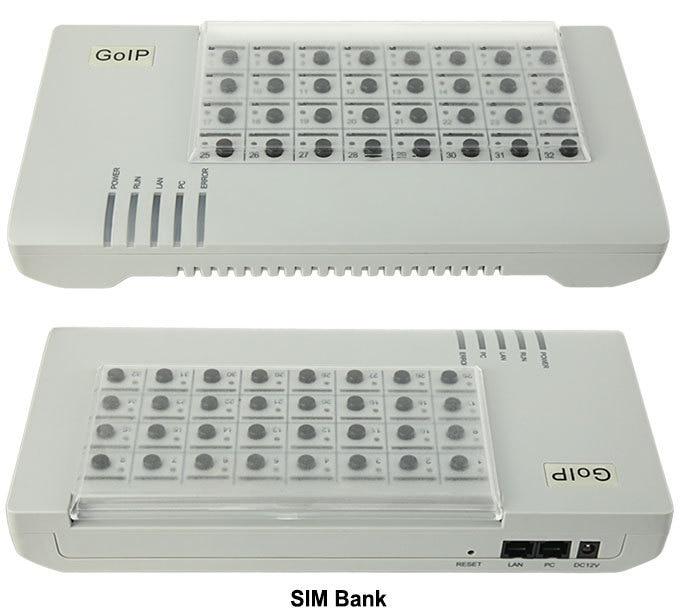 SIM Banca SMB32 server, Remote SIM CARD gestire, supporto emulatore DBL goip (Auto IMEI Variabile + Auto Rotazione SIM)