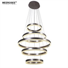 Modern LED Pendant Lights 5 Circle Rings Lamp For Foryer Living room Creative Lustre Hanging Home Luminaires