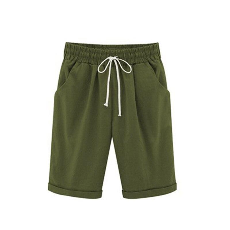 2020 New Women Lady Pirate   Shorts   Casual Elastic Waistband Loose with Pocket Fashion for Summer   Short   Feminino