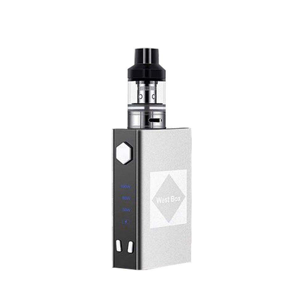 DOTENT WEST BOX Vape Kit 100W Electronic Cigarette Box Shape Metal Built In Battery 2200mah Electronic Mod Vaporizer Shisha Pen