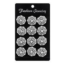 Paketi 12 adet küçük çiçek mücevherli Rhinestones broş Pins kadınlar için Set veya düğün buketleri