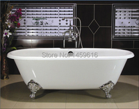 Free Shipping 66 Cast Iron Slipper Clawfoot Tub Not Include Faucet And Drainer W7001