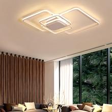 цена на Living room lamp simple modern rectangular led Ceiling light bedroom lamp home atmosphere Nordic study room lamps