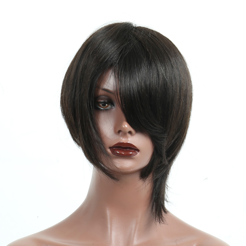 Short Human Hair Wigs Natural Hair Brazilian Remy Straight Short Bob Wig For Women 6 Inches Natural Color Comingbuy