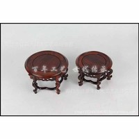 Factory Direct Supply Of Mahogany Wood Carving Craft Ornaments Carved Wooden Pallet Base Set Of Two