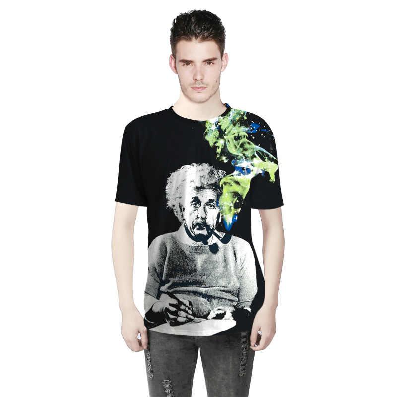 Albert Einstein Fumar ZOGAA T shirt Homens Verão Engraçado Top de Algodão t-shirt de manga Curta The Big Bang Theory T-shirt mais tamanho S-3XL