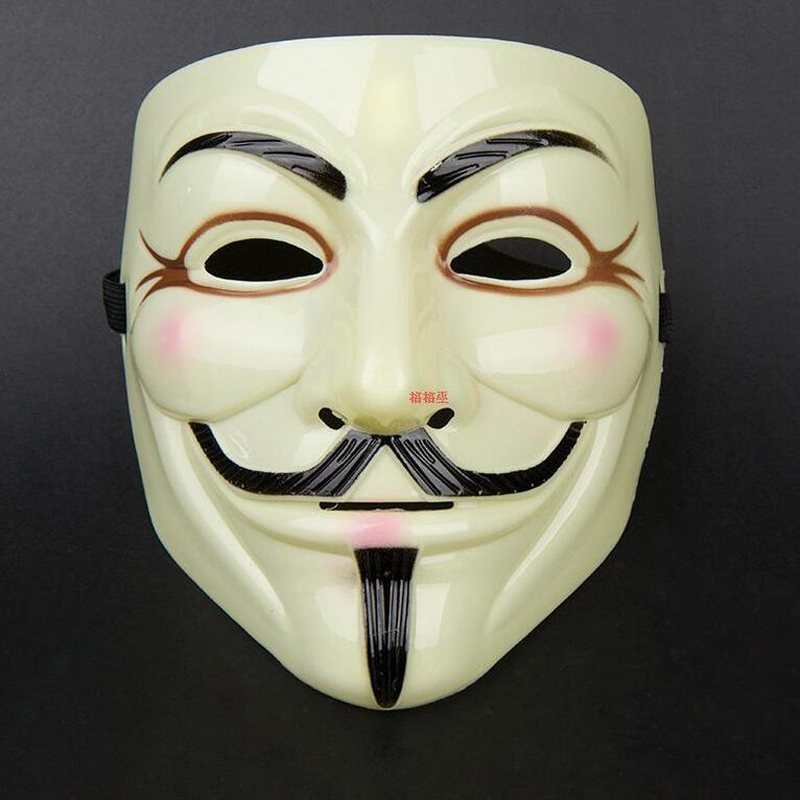 10 teile//los Halloween maske V für Vendetta Maske Mit löcher Guy Fawkes Partei Gesicht Maske gelb farbe Kostüm Maske