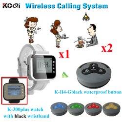 Usługi brzęczyk system pagera cena hurtowa Alibaba produkcji elektronicznej popularne w restauracji (1 sztuk zegarek + 2 sztuk brzęczyk dzwon)