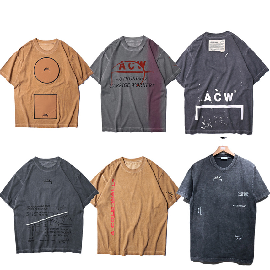US $17 48 7% OFF|A COLD WALL ACW T shirt Wen Best Quality Top Tees Summer  Style ACW 2019 New Arrived A COLD WALL T shirts-in T-Shirts from Men's