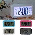 Gran Pantalla LCD Electrónico Digital Mesa de Función Snooze Calendario Termómetro Reloj Despertador Retroiluminación Blanca wekker