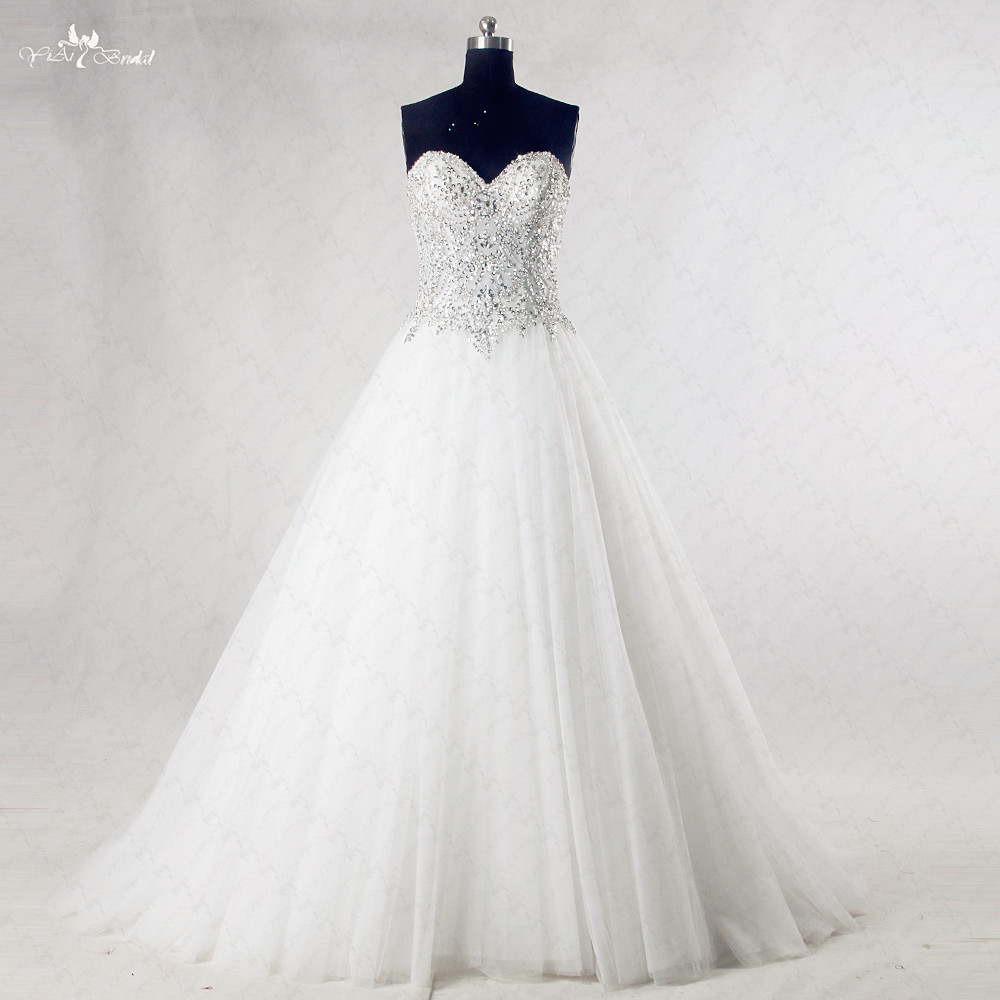 Rsw985 Bling Wedding Dresses Princess Sweetheart Crystal Sequin Bling Wedding Dresses Wedding Dress Princesswedding Dress Aliexpress