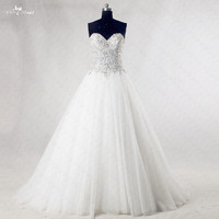 RSW985 Bling Wedding Dresses Princess Sweetheart Crystal Sequin