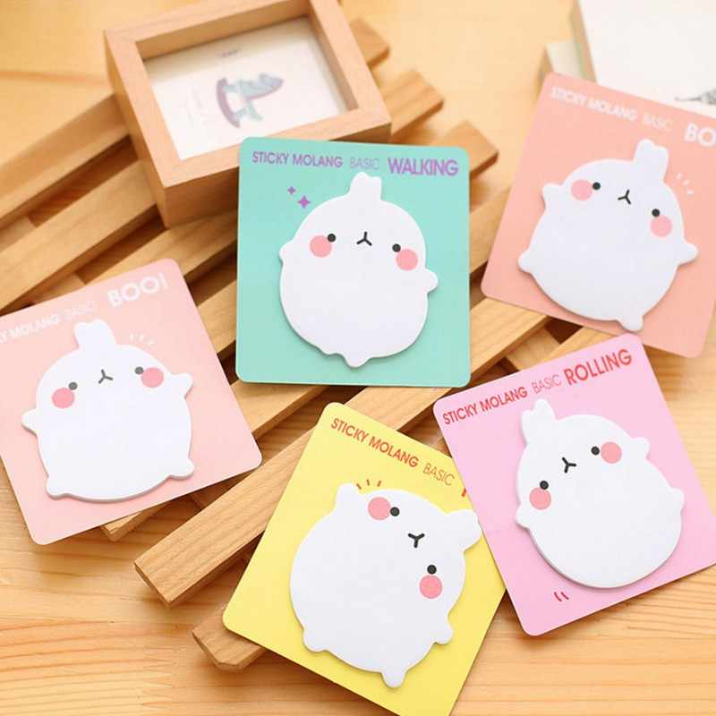 20 Sheets/pack Cute Kawaii rabbit Sticky Notes Memo Pad  Planner Stickers Paper Bookmarks  office Stationery Supplies