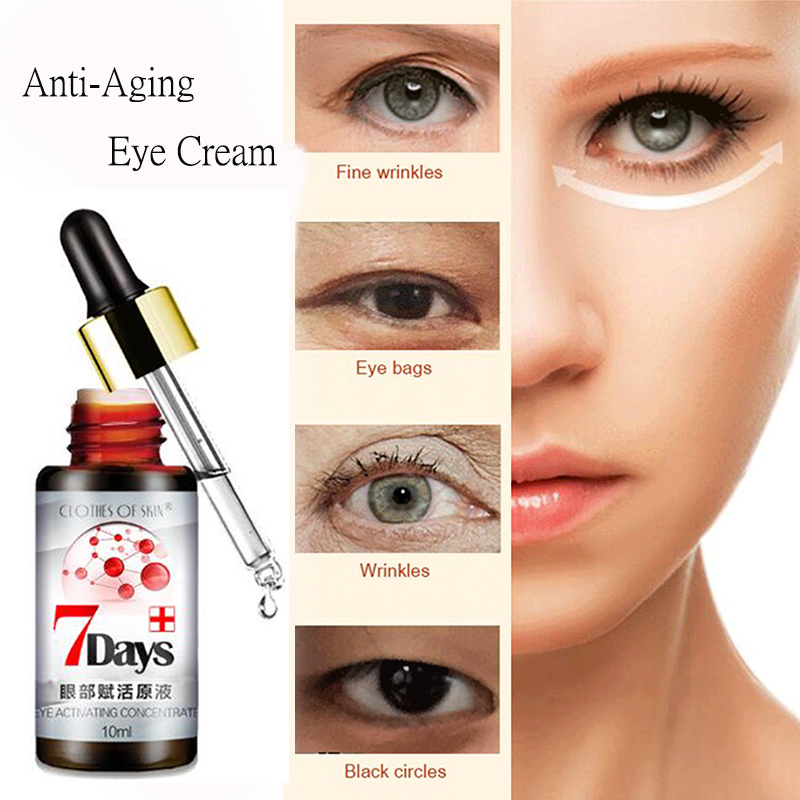 Wrinkle Repair Eye Cream Essence Serum Anti-Aging Anti-Puffiness Fine Lines Remove Dark Circles Skin Care Eyes Creams Beauty