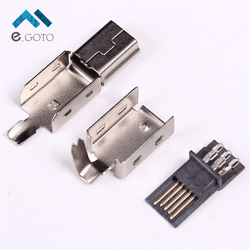 20 штук Mini USB Т-типа Подключите USB мужской DIY адаптер Ассорти Комплект T Тип конвертер <font><b>Connector</b></font> Зарядное устройство разъем зарядки USB сварочной гол&#8230;