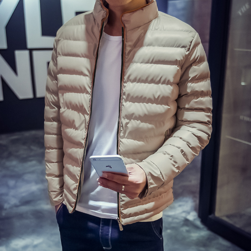 ФОТО undertakes  new man tide winter cotton-padded clothes with thick cotton-padded jacket young students winter jacket's coat