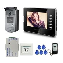 Best Buy FREE SHIPPING New 7″ Color LCD Video Door Phone Intercom Doorbell System RFID Access Doorbell Camera + Remote Control In Stock